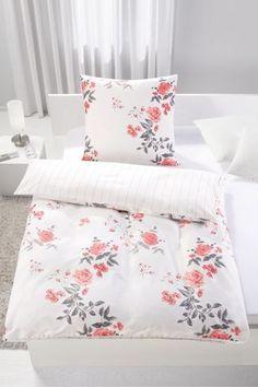 Romantische Bettwäsche in Rosa - Blumen oder Nadelstreif für Ihr Bett