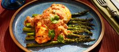 Chicken Over Asparagus