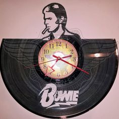 Vinyl wall clock DAVID BOWIE Record Art, Profile View, Wall Clocks, Vinyl Art, David Bowie, Rock Music, Love Art, People, Image