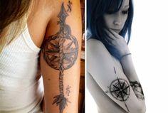 Tatuagem de Rosa dos Ventos