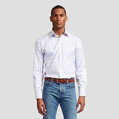 Hercules Check Slim Fit Button Cuff Shirt