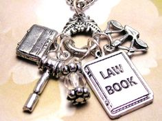 Lawyer or law school Graduation time charm by MyTinyTemptations, $19.00