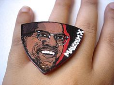 Ring  Malcolm X  wood by LuceCultura on Etsy, €15.00