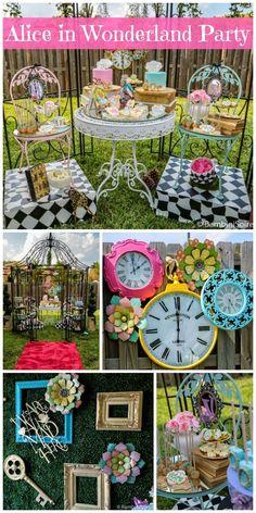 Alice In wonderland First Birthday theme