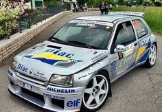 Renault Clio Maxi Kit Car Race Car Track, Race Cars, Rally Drivers, Rally Car, Clio Maxi, Clio Williams, Clio Sport, Alpine Renault, Megane Rs