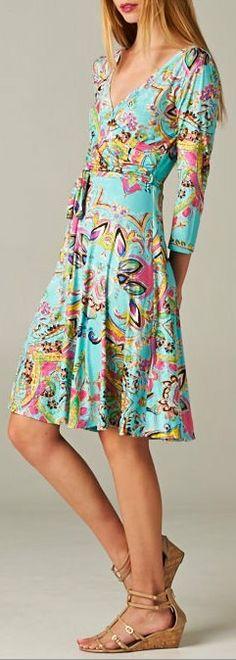 Surplice Clara Dress. Not a big fan of the design, but the cut is elegant and feminine.
