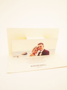 We helped make this pop out  thank you card for this gorgeous couple's wedding!