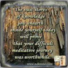 Do you find meditation challenging?  Do you believe meditation is a journey worthwhile?  Comment on your meditation experience.  Like if you agree and Share freely  ∞ ♥ ∞ www.24kzone.com