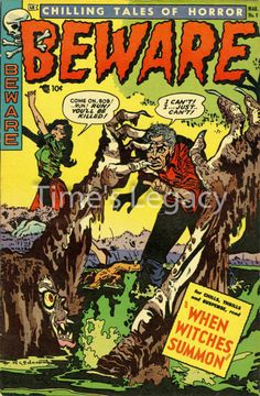Beware No: 8 March 1954 Vintage Reproduction Giclee Print Horror Comic Cover  £4.75