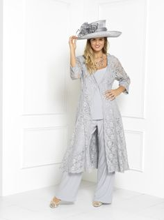 Florentyna+Dawn+Silver+Lace+Brigitte+Swing+Coat+with+Top+and+Trousers+(FD1752) <p>As+with+any+of+the+Florentyna+Dawn+label,+length,+sleeves+etc.,+can+be+determined+by+each+individual+customer.+<p> <p>The+colour+palette+for+this+fabulous+style+is+simply+phenomenal.+(Both+Plain+and+Patterned)<p> <p>We+also+provide+all+the+matching+hats,+fascinators,+shoes,+handbags+and+jewellery+if+required.<p> <p>This+stunning+Florentyna+Dawn+special+occasion+outfit+forms+part+of+our+own+bespoke+c...