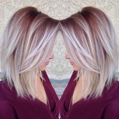 Straight Lob Hairstyle - Ombre, Balayage Hair Styles #straighthaircuts
