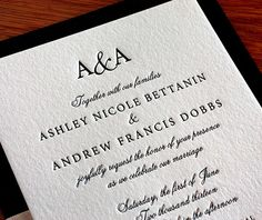This invitation was embellished with a ribbon belly band and second paper layer. The belly band actually sits in between the two paper layers, so that there is no need to remove it to read invitation wording.