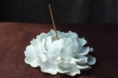 Peony Queen: Ceramic Flower Sculpture / Ornament by Poarttery
