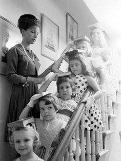 Young pupils at the Moppets Charm School, featured in LIFE magazine, 1962. Photo by Arthur Rickerby. #1960s #charm_school #vintage