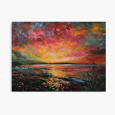 My Canvas, Canvas Prints, Beach Sunrise, Vibrant Colors, Fine Art Prints, Oriental, My Arts, Landscape, Printed