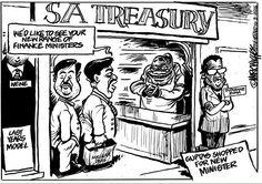 The Zuptas go shopping... For a new FinMin in Mark Wiggett's cartoon for Herald Port Elizabeth