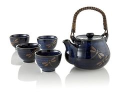 Midnight Dragonfly tea set. 'Cause I'm kinda obsessed with dragonflies. So pretty!