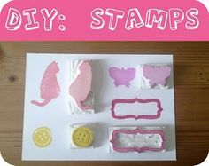 DIY rubber stamps by luloveshandmade