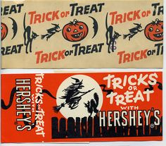 Halloween Candy Bands | Flickr - Photo Sharing! Halloween Treat Boxes, Halloween Labels, Retro Halloween, Halloween Horror, Spooky Halloween, Halloween Art Projects, Halloween Artwork, Halloween Poster, Halloween Crafts For Kids