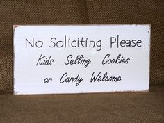 Wood Home Decor, Housewares, No Soliciting Sign, Country Cottage Chic Signage, Rustic Plaque, Primitive Farmhouse, Kids Cookies Welcome on Etsy, $16.95
