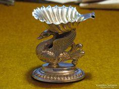1837-es antik, bécsi hattyús ezüst fűszertartó NAGYON SZÉP