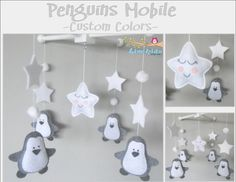 Baby Crib Mobile-Penguins Mobile-custom Made by LincKids on Etsy
