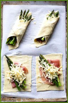 These Prosciutto Asparagus Puff Pastry Bundles are an easy and elegant appetiz. These Prosciutto Asparagus Puff Pastry Bundles are an easy and elegant appetizer or brunch idea! Perfect for Easter, Mother's Day or any other spring brunch! Elegant Appetizers, Appetizers For Party, Appetizer Recipes, Easter Recipes, Recipes Dinner, Meat Appetizers, Dinner Menu, Thanksgiving Recipes, Shower Appetizers