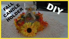Here is a simple candle holder that you can make to put on your table for the fall and thanksgiving dinner here is the link:https://youtu.be/zICwT8L7s6I