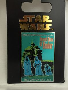 Forest Moon of Endor Return of the Jedi Haunted Mansion pin Disney Pins For Sale, Disney Trading Pins, Haunted Mansion, Disneyland, Star Wars, Moon, Mansions, The Moon, Mansion Houses