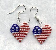 Heart dangle earrings from LC.Pandahall.com