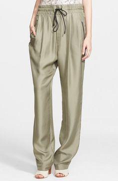 rag & bone 'Harvey' Wide Leg Silk Crêpe de Chine Pants available at #Nordstrom
