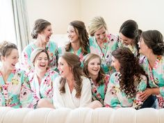 An adorable photo of Jamie and her bridesmaids before slipping into their dresses. | 4.16.2016 at The Sonnet House | Photo by Eric & Jamie Photography