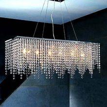 Modern Minimalist K9 Crystal String Pendant Lights Rectangular Restaurant Pendant Lights AC110-245V(China (Mainland))