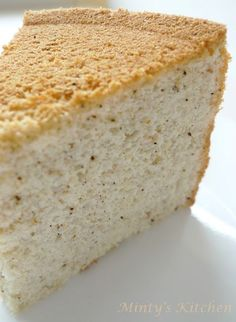 French Earl Grey - Vanilla Chiffon Cake