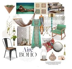 """Aire Boho"" by interiorclique ❤ liked on Polyvore featuring interior, interiors, interior design, home, home decor, interior decorating, Magical Thinking, Camilla, PBteen and DENY Designs"