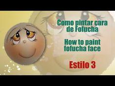 Como pintar cara fofucha 3 - How to paint fofucha face 3 - YouTube