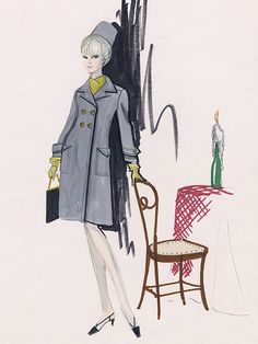 Edith Head sketch for Elke Summer (production unknown)