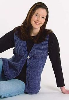 Denim Vest - pic shows the knit version; link is to the crochet instructions