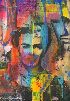 Lynne Perrella/frida Kahlo   Two inspirational woman.