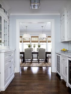 Butler's Pantry. This Butler's Pantry is spacious and inspiring! #ButlersPantry Kitchen Butlers Pantry, Butler Pantry, New Kitchen, Pantry Room, Kitchen Wood, Kitchen Dining, Kitchen Decor, Kitchen Cabinets, New York Homes