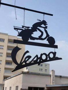 Vespa store in Martigny, Switzerland.