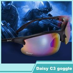 [Visit to Buy] Support wholesale tactical glasses Daisy C3 outdoor sports crossbow riding bike glasses men's women riding a bike hiking glasses #Advertisement