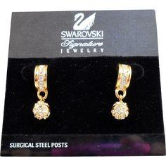 Vintage Swarovski Crystal Earrings - MOC