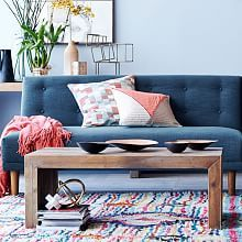 maybe in a square, or larger rectangle to fit in family room between couch and love seat. (Modern Accent Tables   west elm)