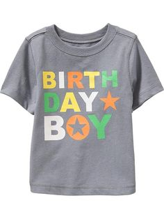 """""""Birthday Boy"""" Tees for Baby Product Image"""