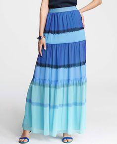 Tall Ikat Print Maxi Skirt
