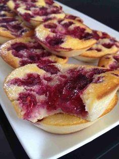 Tartelettes sans pâtes aux framboises