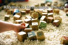 Rhymes to Remember Things - some mnemonic rhymes to help you and your children easily recall information.