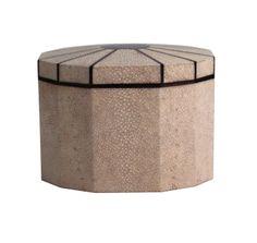 Ivory Shagreen Box with Macassar Ebony Inlay