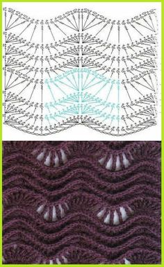 Textured lace & ripple crochet pattern